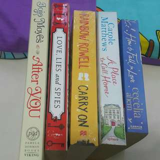 [PreLoved] Novels/ Books: After You;  Love, Lies & Spies; Carry On; A Place to Call Home; How to Fall in Love