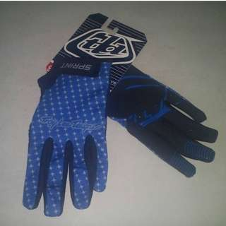 GrabMee Blue Full Finger Gloves