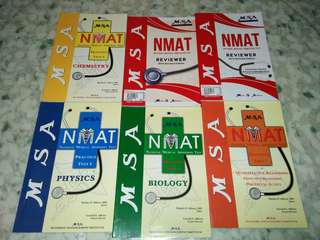 NMAT REVIEWERS BUNDLE (MSA, LEARNFAST AND MSA REVIEW CENTER BOOKS)