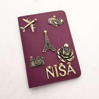 Personalised passport holder custom passport cover personalised gift customised gift