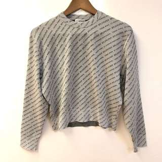 灰色衞衣 Balenciaga gray sweater size 36