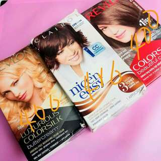 Revlons and Clairol brands hairs colors