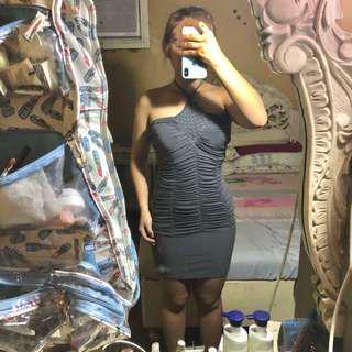 Dark Grey Halter Bodycon Dress