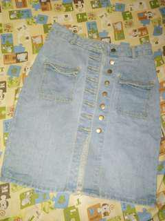 Highwaist Button Down Skirt