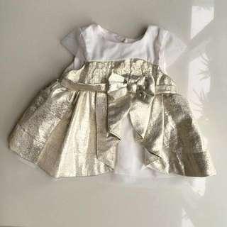 Designer Gold Formal Dress/ Blouse
