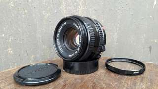 Canon FD 50mm 1:1.8 Manual Lens Mint