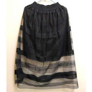 黑色半透明紗裙