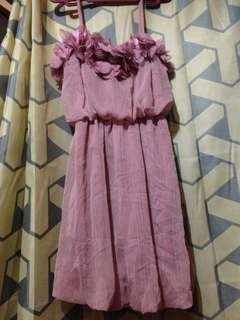 Single-strapped Pink  cocktail Dress