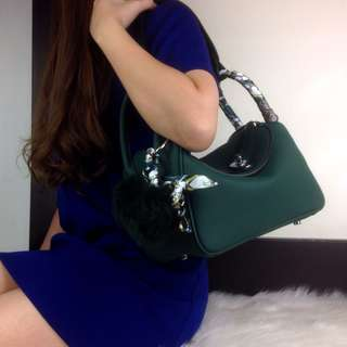 PO.3-5hari.Hermes bag. Size 26x15x17cm. (LIMITED STOCK).  Hermes seri Lindy Clemence Leather SHW. 5 Warna.