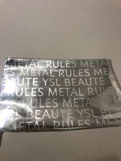 YSL silver pouch