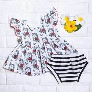 🚚 Instock - 2pc unicorn set, spring summer 2018 collection