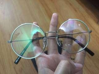 Silver Round Glasses