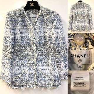 Chanel blue and white jacket size 34