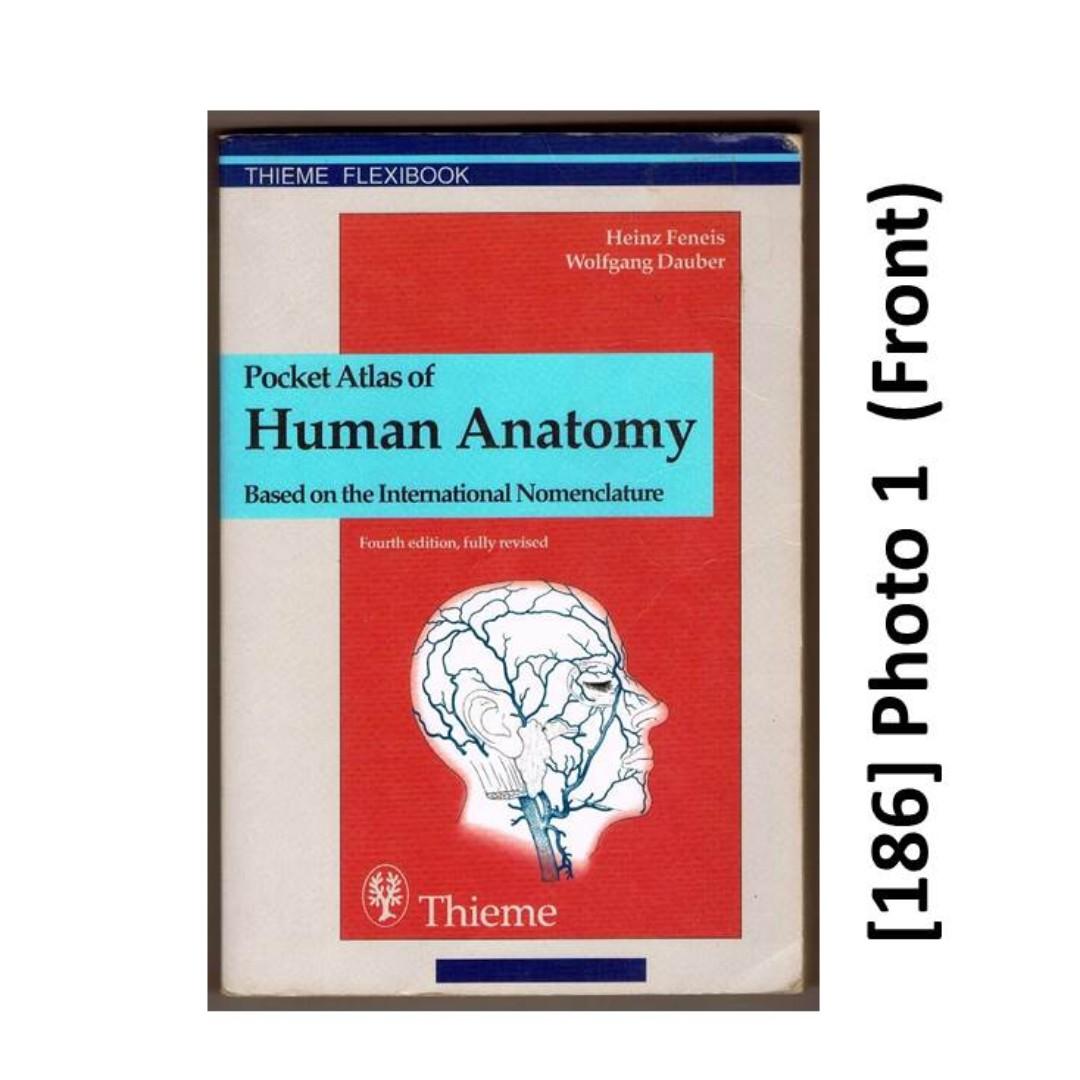 186 Pocket Size Med Book Pocket Atlas Of Human Anatomy Books