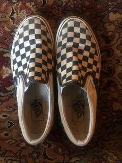 'Checkerboard' Black & White vans