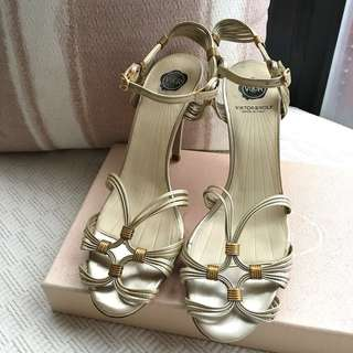Viktor & Rolf leather sandals shoes  **Size 37  **Made in Italy ....