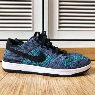Nike Dunk Flyknit Black Blue Purple Authentic