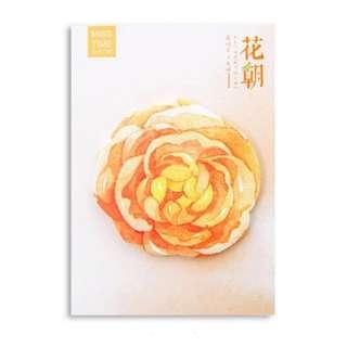 🌟BN INSTOCKS Pretty Orange Flower Sticky Post-Its Memo Pads