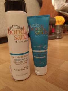 Bondi sands light medium foam & face tan