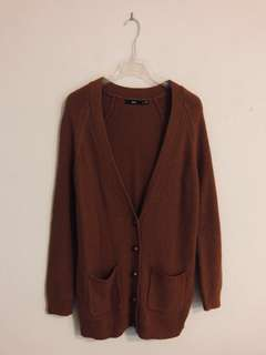 Rust Oversized Knitted Cardigan (Worn Once)