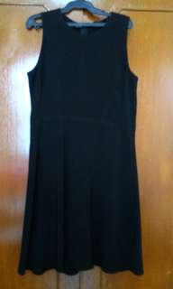 Mango Black Sleeveless Skater Dress