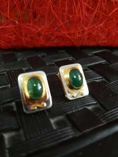 Natural Zambian Emerald Earring and Ring Set