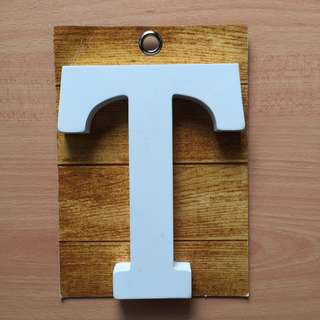 🚚 Wooden block letter T from TYPO