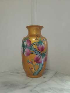 Vintage Chinese Peach Vase Height 38cm Perfect