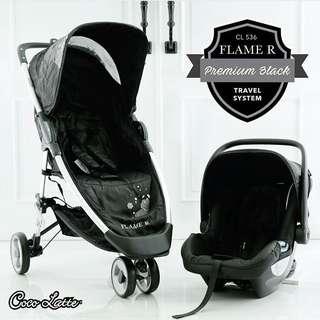 COCOLATTE FLAME R STROLLER + CAR SEAT