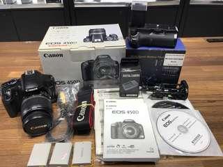🚚 曙光數位 Canon 450D 18-55mm + 電池把手 公司貨