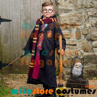 Rent/Buy Kids Harry Potter Costumes SLYTHERIN GRYFFINDOR RAVENCLAW HUFFLEPUFF GRIFFINDOR  J.K. Rowling voldemort witchcraft and wizardry chamber of secrets dnd events halloween magic wand spectacles glasses illuminating accessories
