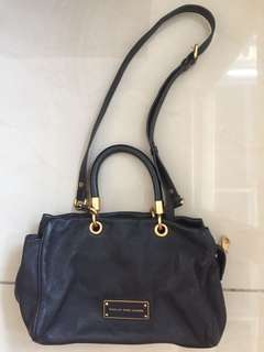 Marc jacobs black shoulder sling bag leather