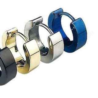 Repertoire Stainless steel Hugger Earrings