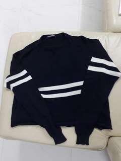 🚚 Navy White Stripe Acacia Knit Sweater