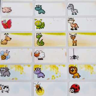 Cute Animals name stickers