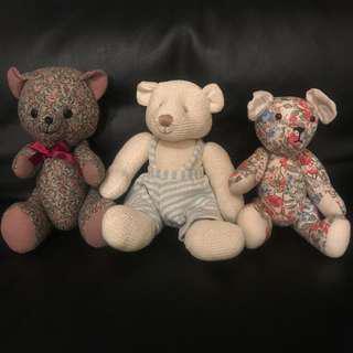 Trio of Teddy Bears