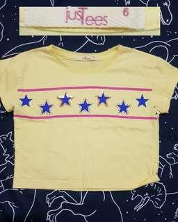 Just Tees Yellow Shirt 6