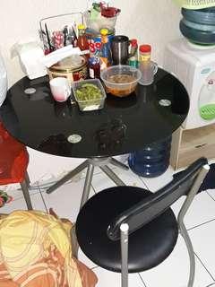 Meja makan + lemari piring
