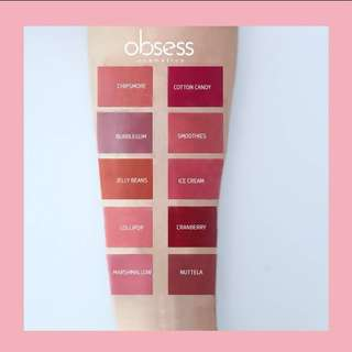 Obsess Cosmetics Lip Matte Instocks