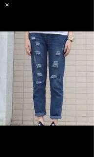 東京著衣 直筒牛仔褲
