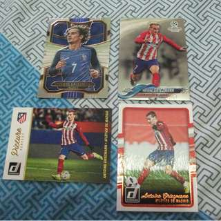 Antoine Griezmann Topps/Panini trading cards for sale/trade (Lot of 4 cards)