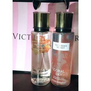Victoria's Secret Fragrance Mist Brume Parfumé 'CORAL SKY' 'PURE SEDUCTION WATER BLOOMS'