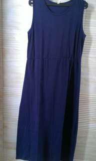 Long dress blue navy
