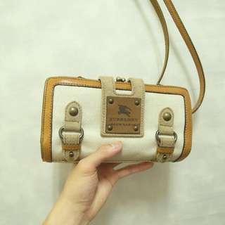 三件7折🎊 Burberry 側背包 肩背包 錢包 大皮標logo 極稀有 日本製 老品 復古 古著 Vintage
