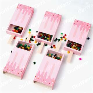 🚚 10Pc Ice cream paper box party supply wedding birthday