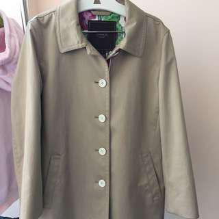 Coach Trench Coat, size L, beige