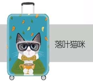 貓卡通行李保護套