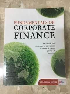 FIN3101 Fundamentals of Corporate Finance (Asia Global Edition)