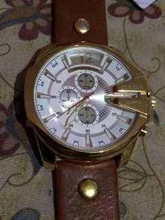Curren 8176 Luxury Business Watch Gold Brown