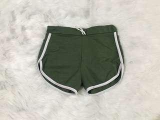 Olive dolphin shorts